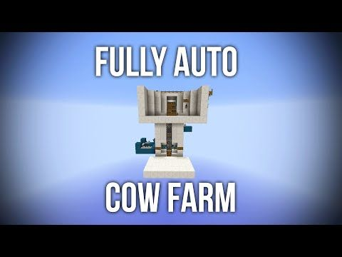 Minecraft Fully Automatic Cow Farm AFK - Redstone Tutorial - YouTube