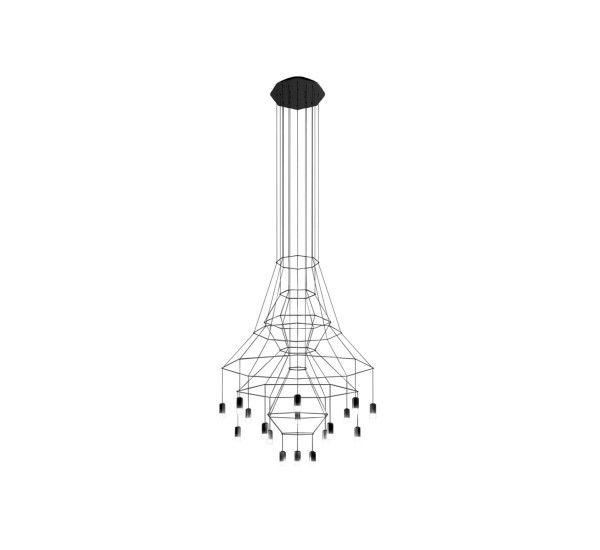Creata da Arik Levy per Vibia, Wireflow Chandelier è una lampada a sospensione realizzata in acciaio, alluminio e vetro pressato. Wireflow chandelier è una lampada a sospensione dal design assolutamente innovativo e creativo. L'unione dei tubi in alluminio di cui è realizzato il suo corpo la rende elegante ed ingegnosa; Lasciatevi conquistare dalle sue forme uniche e sinuose che riusciranno a risaltare e stupire in ogni ambiente. Wireflow chandelier è disponibile in sei differenti modelli...