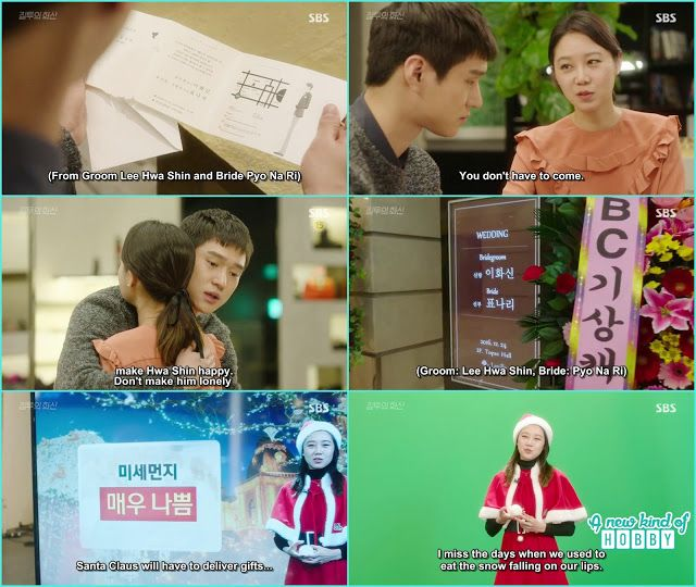 na ri gave the wedding invitation to jung won and on christmas eve she is doing the weather forecast  - Jealousy Incarnate - Episode 24 Finale (Eng sub)
