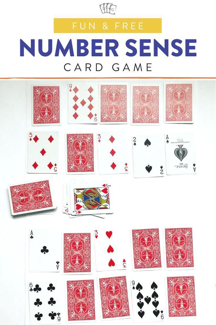 Fun number sense card game trash math card games
