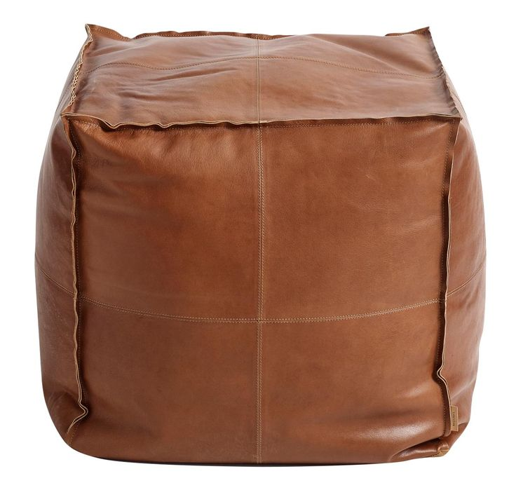 Leather pouf Camou