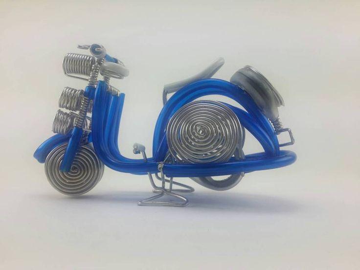 Vespa Model Handmade Wire Motorcycle Aluminium Bike Metal Decorate Bend #Handmade #WireArt