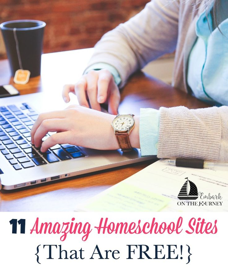 With smartphones, tablets, and computers in every home it's nice to be able to find amazing homeschool resources online. Here are 11 amazing homeschool sites that offer free content to teach your homeschoolers or to supplement your homeschool lessons. | embarkonthejourney.com