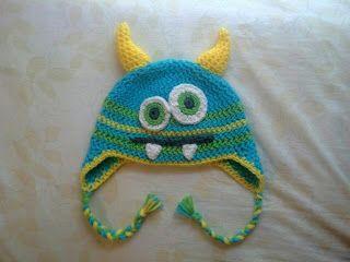 Free Crochet Monster Hat Pattern.