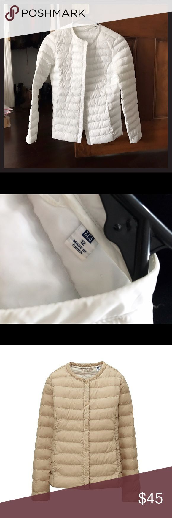 UNIQLO Light Padded Jacket Warm, light padded jacket in white. Perfect condition, no flaws. Girls size 12, perfect for XS. Uniqlo Jackets & Coats Puffers