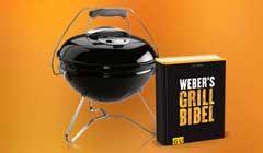 Gewinne mit Books.ch einen original Weber Holzkohlegrill inkl. Weber's Grillbibel, sowie die Bücher Weber's Hot Dog und Burgerset.