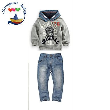 Boy's+Cotton+Blend+Jeans/Clothing+Set+,+All+Seasons+Long+Sleeve+–+GBP+£+13.99