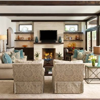 31 best images about living room on pinterest kitchen for Great room arrangements