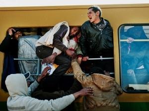 Alex Majoli / Magnum for Newsweek    Libya-Tunisia Border Refugees