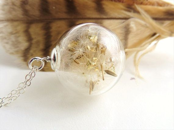 Dandelion Necklace Make a Wish Necklace Real by SeaMeadowDesigns, €28.00