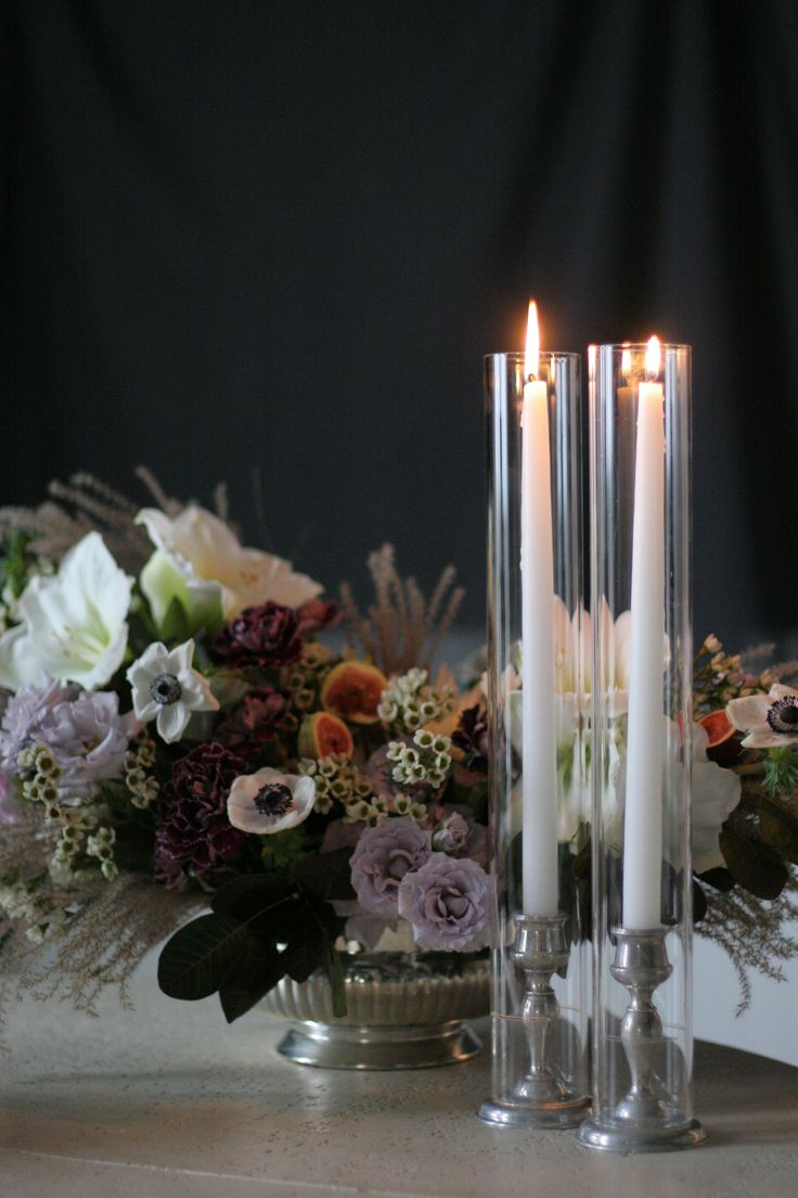 """Beautiful clear, heat resistant glass hurricane in 2.36"""" (60mm) diameter  that fits over a taper candle and either rests on your candlestick holder  or on the table with our Glass Urn Candlestick Holder. Glass hurricanes  stands 18"""" tall and are sold in cases of 12 or for our best pricing, in  multiples of 24.   Glass Hurricanes allow you to offer your clients the look they want while  providing another source of rental revenue for your bottom line.  Care for your Taper Candle Hurricane…"""