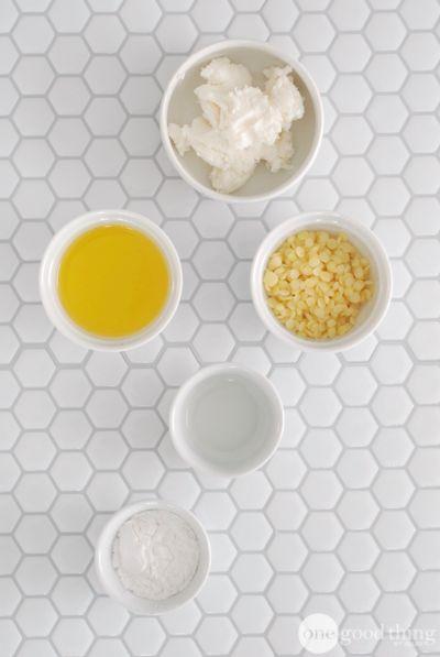 DIY hair pomade:  3 T. shea butter + 2 T. beeswax pellets + 2 T jojoba oil + 1 T. arrowroot powder/cornstarch + 1/2 t. vitamin E. (opt.) + 5 drops rosemary + 5 drops cedarwood EOs
