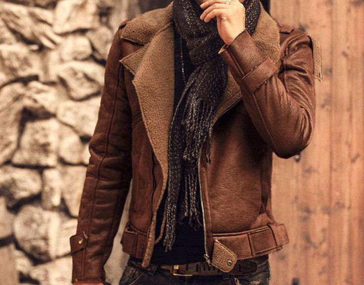 Men's Casual Warm Leather Jacket