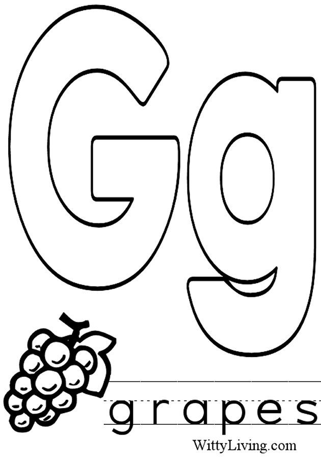 Coloring Pages Letter G Kids Crafts For Kids To Make A 2019