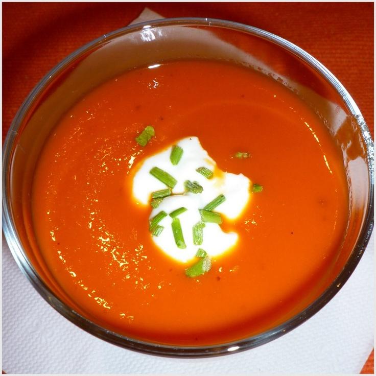Sopa de pimento vermelho