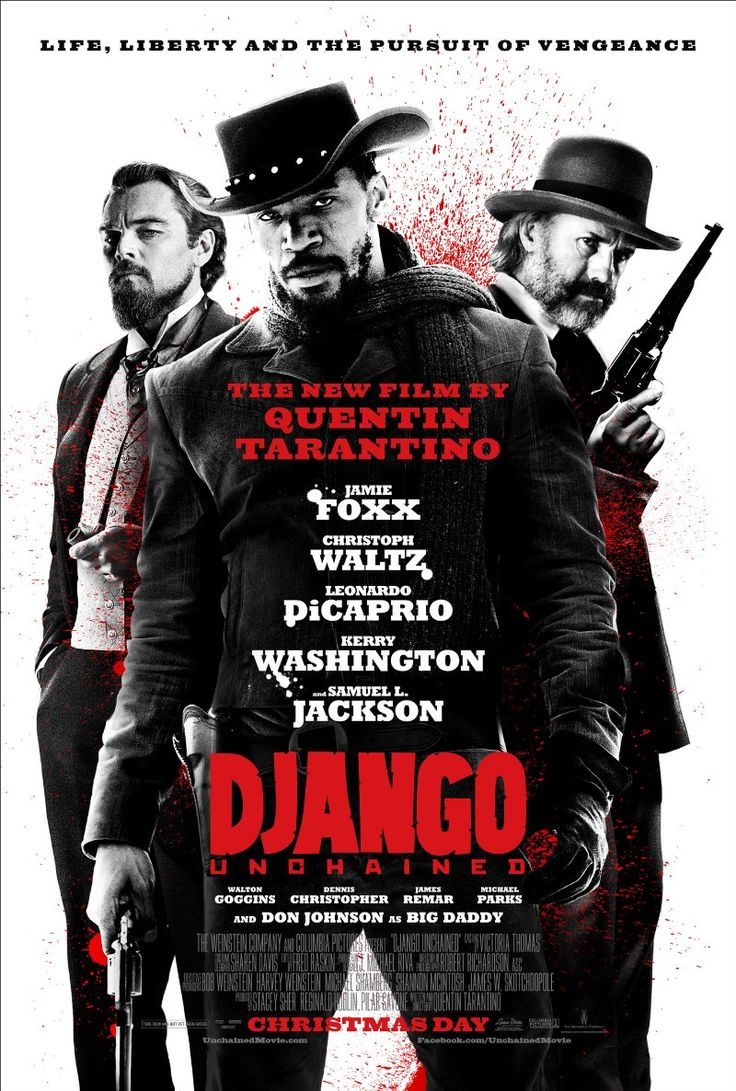 Django Unchained (2012) - Wouldn't it be interesting to be Quentin Tarantino for a day?? I liked this movie. It was long, but then again, all Quentin is Quentessentially long, right? Funny and original and nutty with an amazing cast. And of course it couldn't end without a big bloody shootout. :)