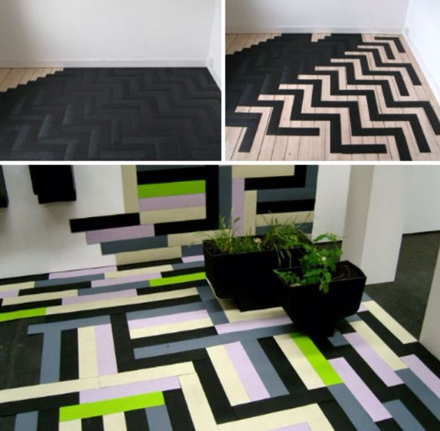 Parquet made from recycled tires!