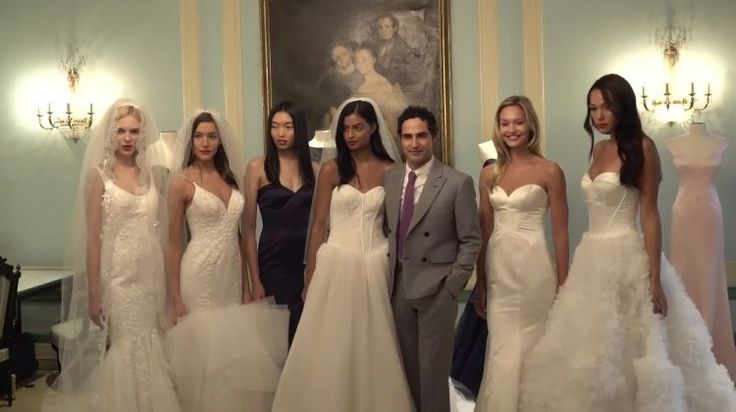 Zac Posen Shows Off His New Wedding Dresses on the Scene: https://thescene.com/watch/brides/bridal-runway-shows-zac-posen-fall-2017