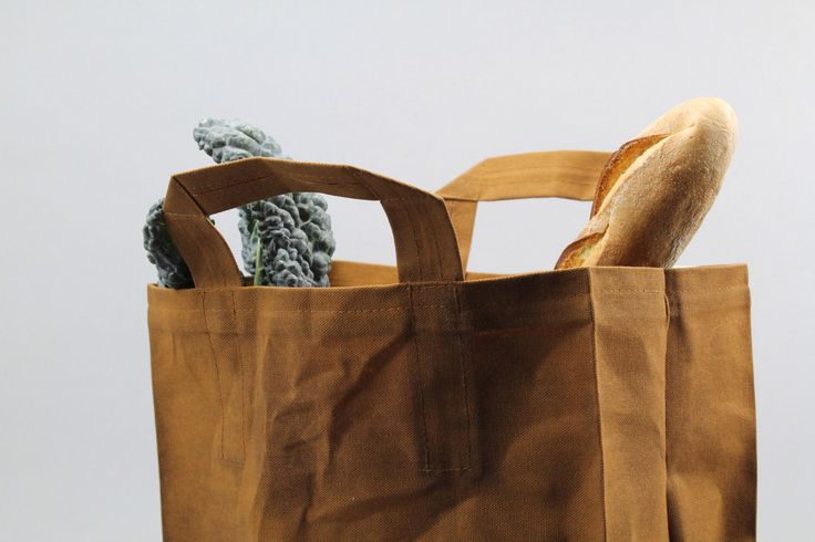 The Market Bag // Caramel Brown WAXED Reusable Canvas Shopping Bag with handles, eco-friendly and stylish by ItalicHome on Etsy https://www.etsy.com/listing/163044364/the-market-bag-caramel-brown-waxed