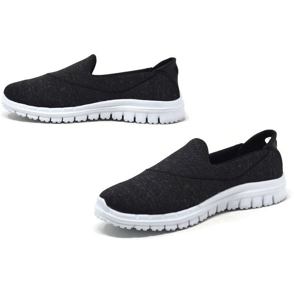 Women's Mata Shoes Mata Women's Slip-On Sneakers (160 BOB) ❤ liked on Polyvore featuring shoes, sneakers, black, fashion sneakers, black slip on sneakers, black slip-on shoes, slip on trainers, slip-on shoes and pull-on sneakers