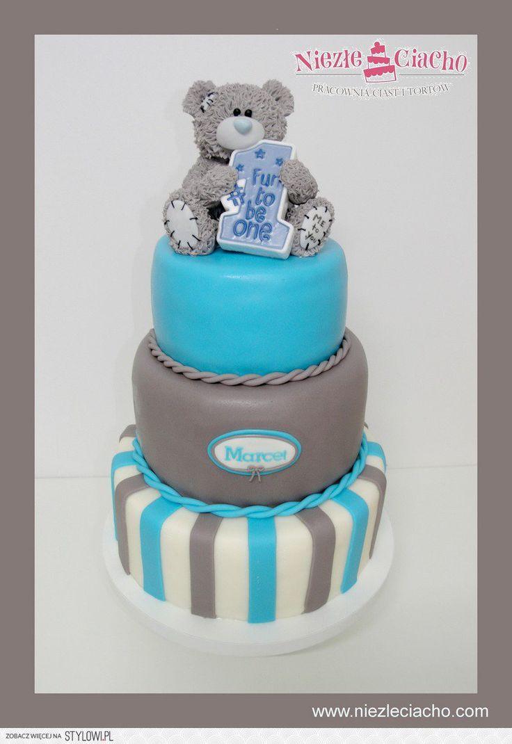Misiu, miś, tort z misiem, piętrowy tort urodzinowy, torty bajkowe, torty dla dzieci, przyjęcie urodzinowe, dziecko, 1 roczek, Tarnów