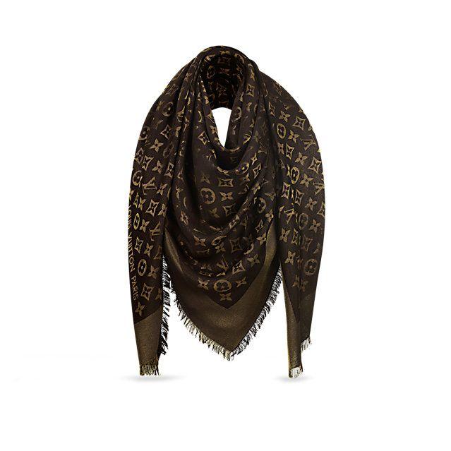 Louis Vuitton - Scialle Monogram Shine (col. marrone)