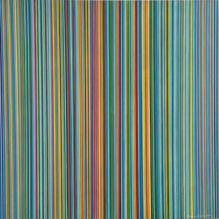 "Acryl ""stripes 286"", Leinwand 80X80 bernhard kaeser 2016 Acryl auf Leinwand ,abstrakte, Kunst, malerei, Leinwand, painting, abstract,"
