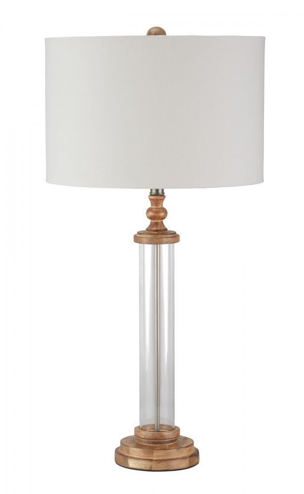 Tabby Clear/Natural Table Lamp