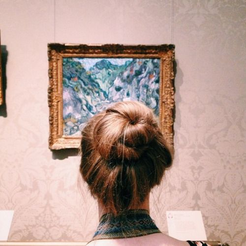 Van Gogh + Maddy (at Museum of Fine Arts, Boston)
