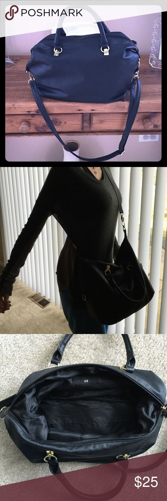 H&M Purse Hobo/satchel/crossbody bag. Faux leather. I bought it from H&M. Great condition with one small flaw where the hardware from the handle meets the bag. Please see attached photo. Thx! H&M Bags Crossbody Bags