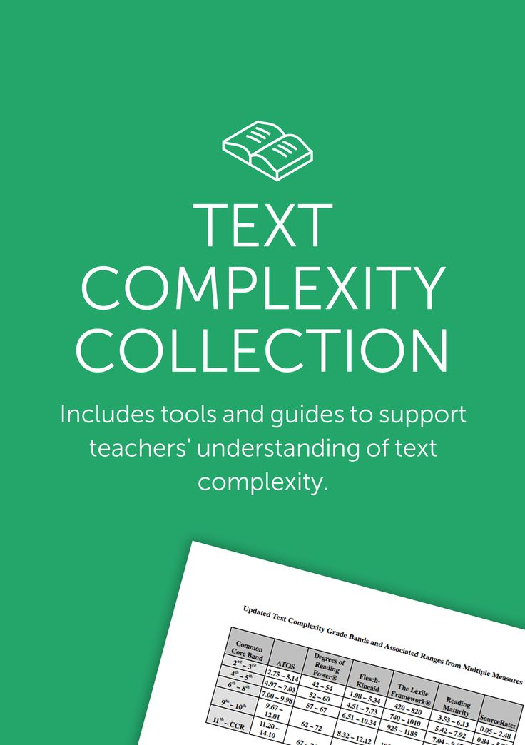 Tools to help choose an appropriately complex text for your class.