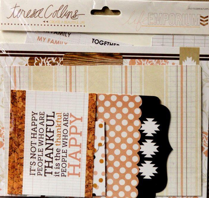 Teresa Collins Create a Beautiful Life Emporium File Folders & Flaps