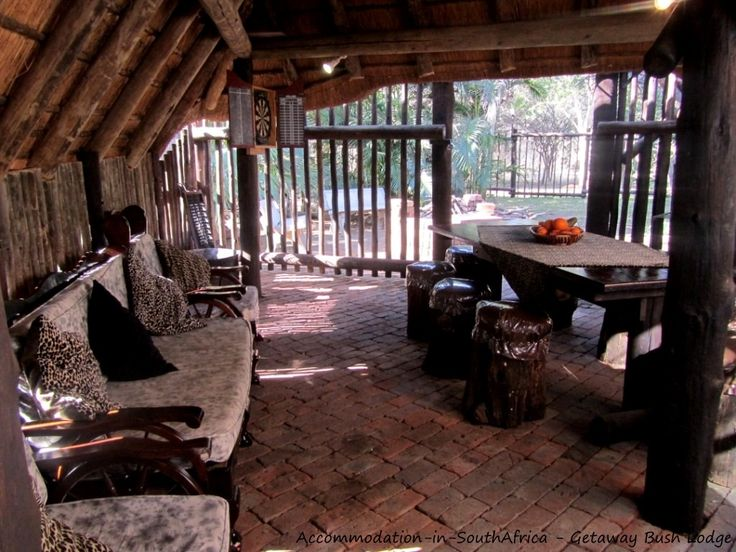 Lapa for your convenience. Getaway Bush Self Catering House accommodation.