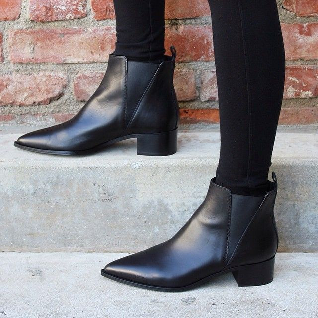 black pointed booties