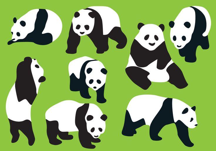 panda-bear-silhouette-vectors.jpg (1400×980)