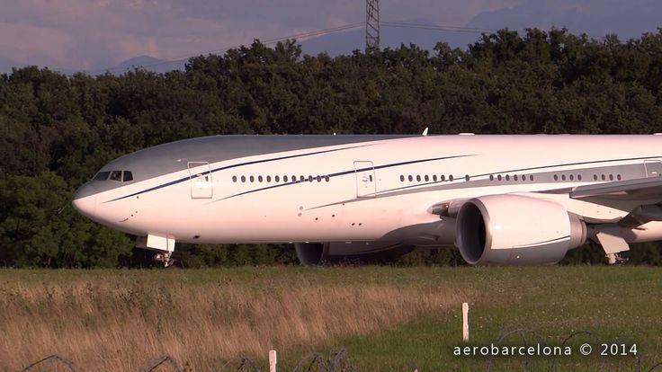 [FULL HD] Aviation Link Company 777-2KQ(LR) VIP at Geneva