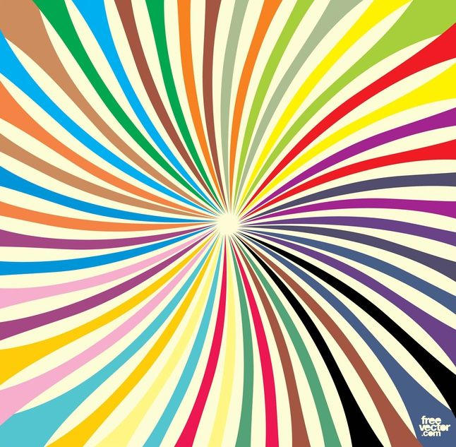 Colorful Starburst vector free