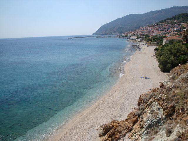 Beach at Plomari, Lesvos