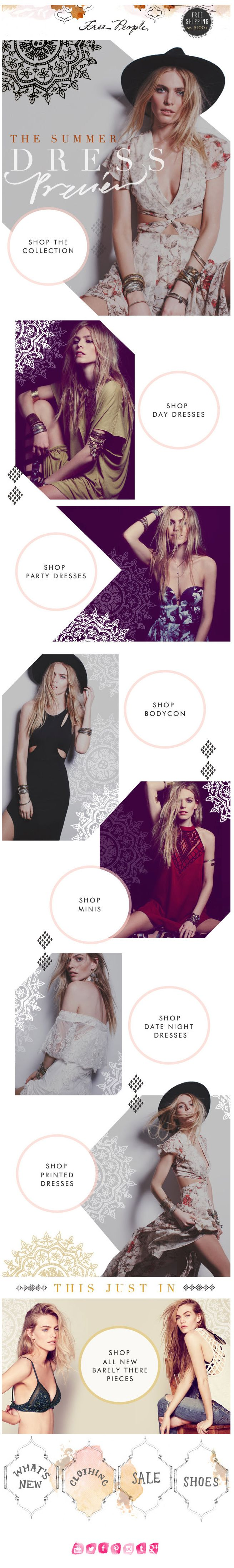 Free People : Category + Product Features