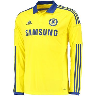 Adidas Chelsea Away Shirt 2014/15 - Long Sleeve M37746 Chelsea Away Shirt 2014/15 - Long Sleeve YellowSupport your favourite team with pride and style with this long sleeved yellow 2014/15 Chelsea away shirt which is inspired by the iconic yellow away kit http://www.MightGet.com/february-2017-2/adidas-chelsea-away-shirt-2014-15--long-sleeve-m37746.asp