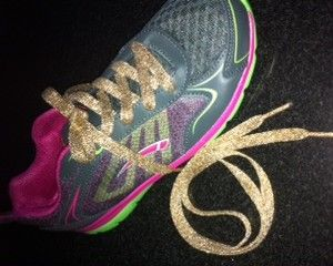 These Metallic Laces sparkle and shine in the light because of a thread called Lurex. Lurex is a synthetic fiber onto which an aluminum layer has been vaporized to get its metallic appearance. http://www.shoestringking.com/dp/B00AFCUGJI