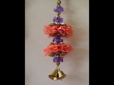 Diy fabric door hangings - YouTube