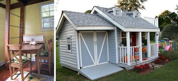 One little boy 39 s amazing cubby house cubby houses house for Playhouse with garage plans