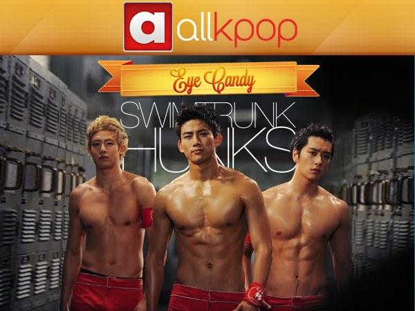 Eye Candy: Swim Trunk Hunks #allkpop #kpop