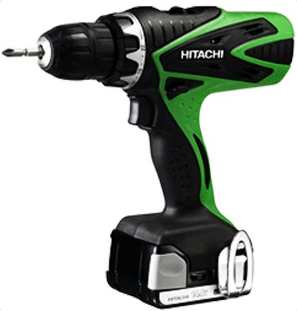 Hitachi DS14DSFL Cordless Drill Drivers     14.4V and max lock torque: 34Nm (300in.-lbs.).     Fan-cooled motor and 2-speed gear.     10mm keyless chuck.     Capacity for mild steel 12mm.     Adjustable clutch: 22-stage torque.     Slim and soft grip handle.     Belt hook.     1.5Ah-capacity slide Lithium-ion battery BSL1415 and 40-min. charger UC18YGSL For More Details: http://www.mrthomas.in/hitachi-ds14dsfl-cordless-drill-drivers_469