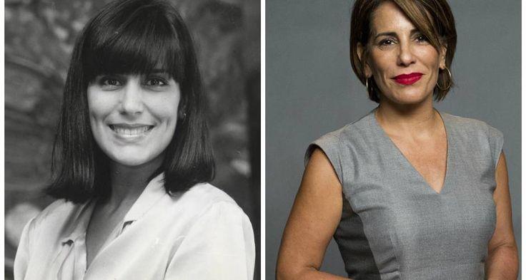 Glória Pires em 1988, na novela 'Vale Tudo', e em 2015 como a Beatriz de 'Babilônia' Foto: TV Globo