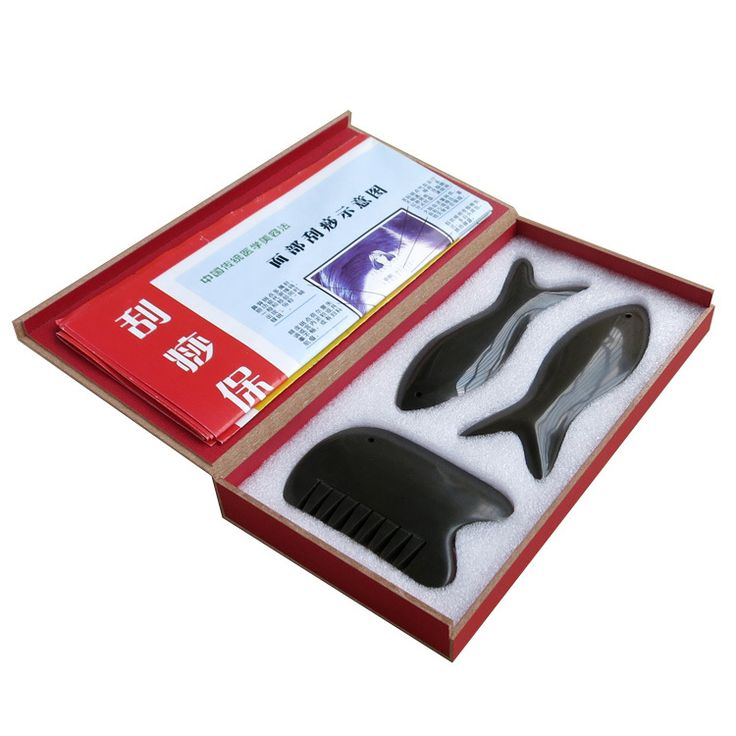 Find More Massage & Relaxation Information about Traditional Acupuncture Massage Tool 5A Bian stone beauty face kit 2pcs fish plate + 1pcs comb (3pieces/set),High Quality Massage & Relaxation from Tanly's store on Aliexpress.com