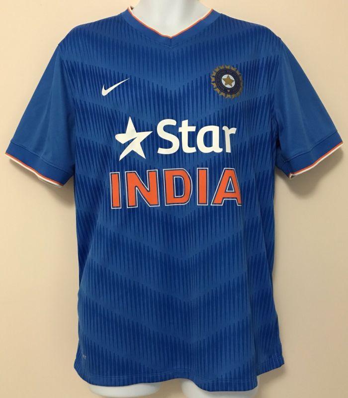Star India Nike Dri Fit Men S Cricket Jersey Shirt Blue Size Xl Extra Large Star India Mens Fitness Jersey Shirt