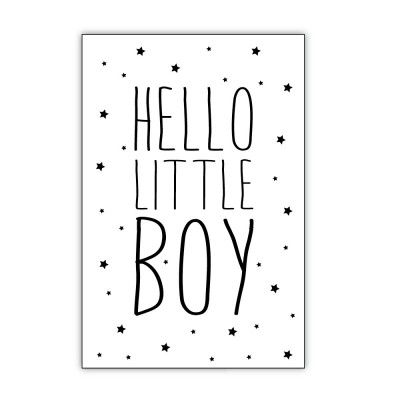 "Ansichtkaart ""Hello Little Boy"" – Dots Lifestyle"