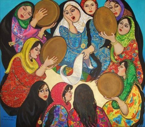 Painting by Dr. Wasmaa Al Agha. Iraqi Artist.